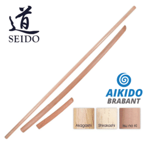 Aikido Bokken Jo en Tanto set – MERK: Seido – Made in Japan